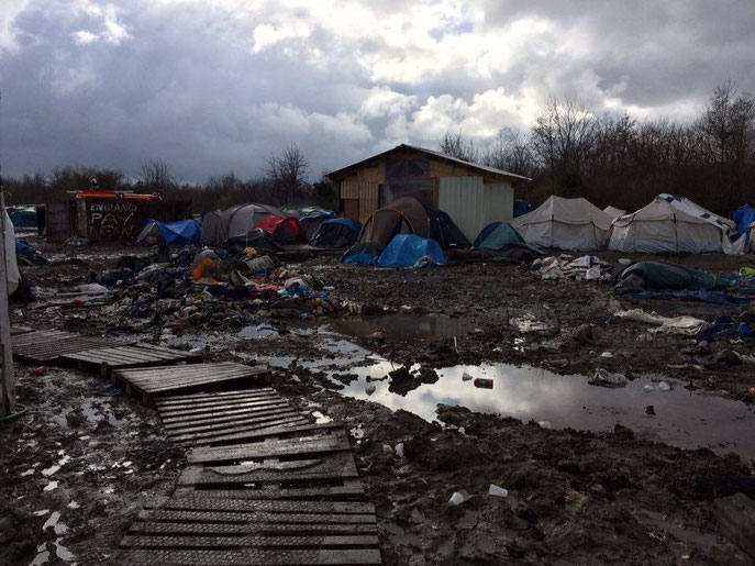 Dunkerque refugee camp, Calais, France