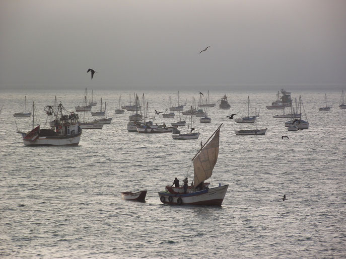 fishing boats, Cabo Blanco