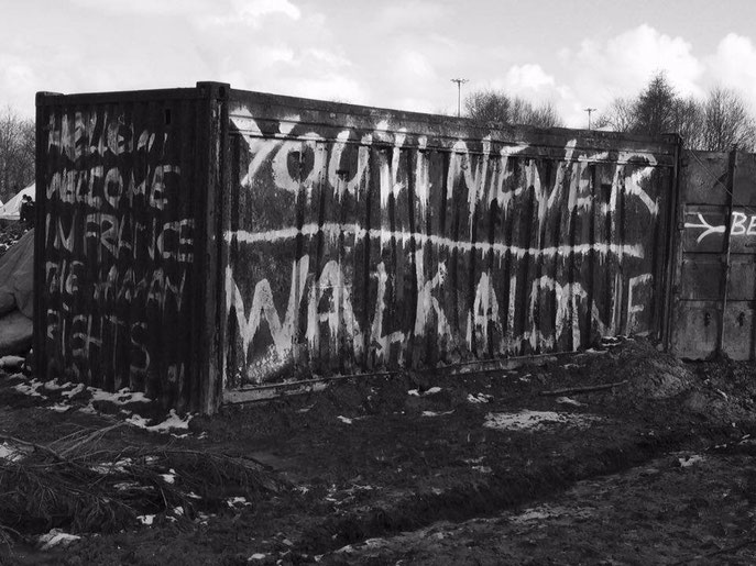 Calais jungle, refugee crisis, street art