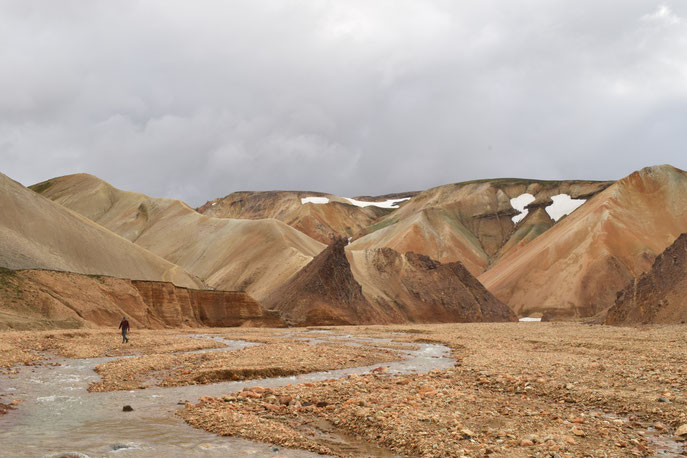 Rhyolite, coloured mountains - day hike from Landmannalaugar