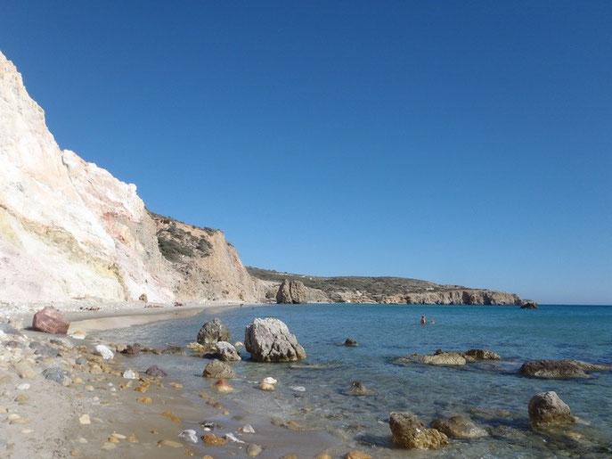 Firiplaka beach, Milos, Cyclades, Greece.