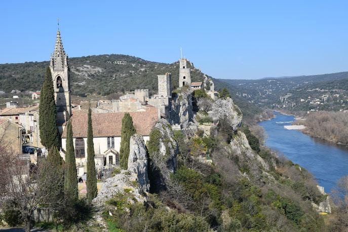Aigueze village, France