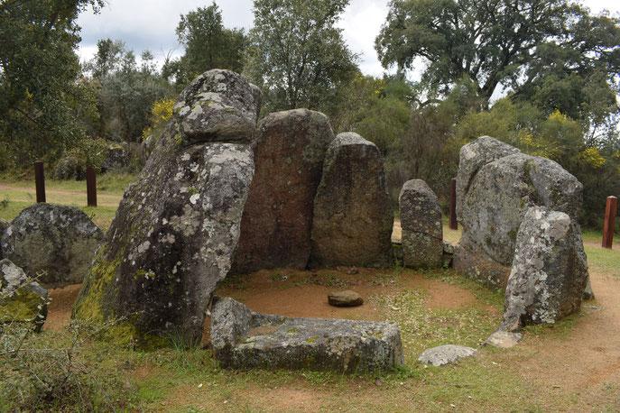 Megalithic archeological site Ortiga, Portugal