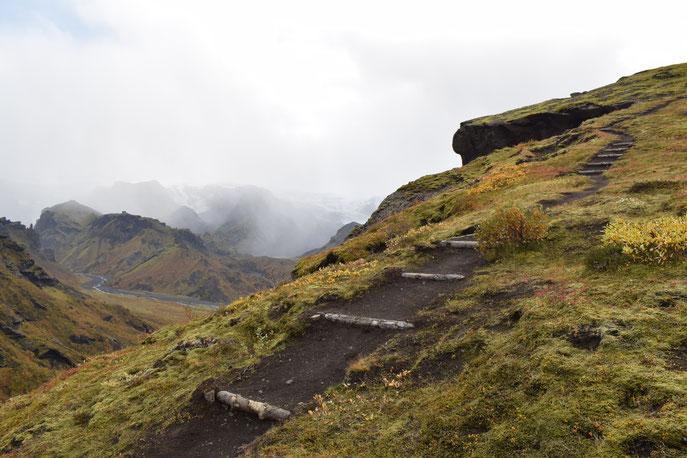 Trailteam trail volunteering Iceland - Thorsmork Þórsmörk