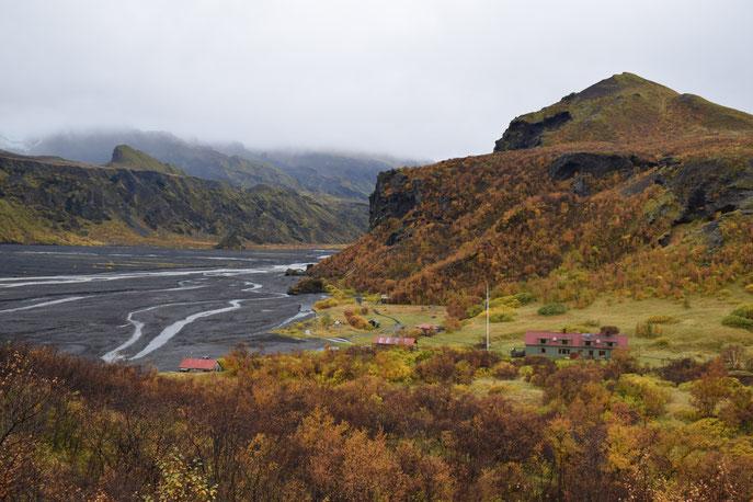 Langidalur campsite in September, Autumn Thorsmork