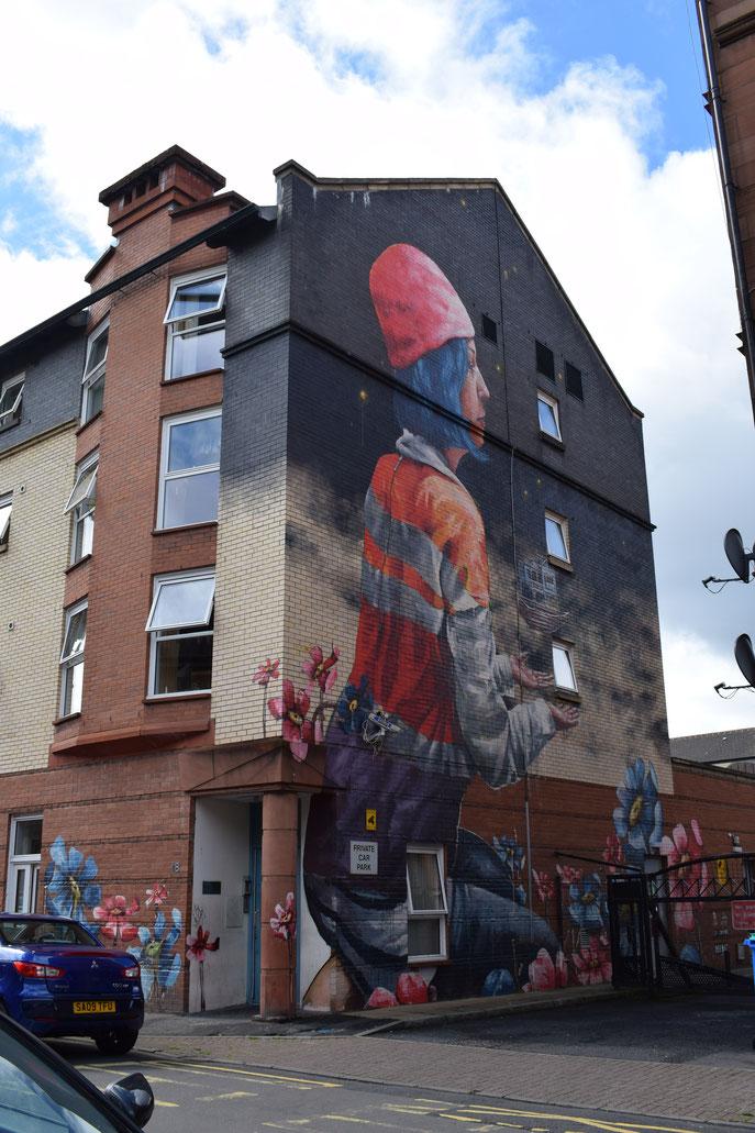 Fintan Magee, street art, Glasgow