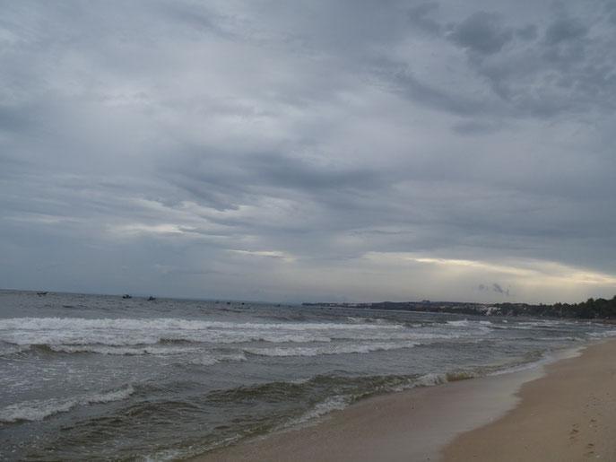 Typhoon, Mui Ne beach, Vietnam