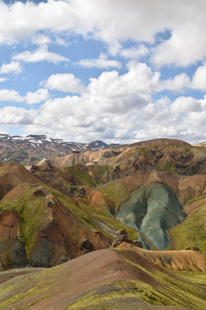 Grænihryggur, green ridge, Landmannalaugar, Fjallabak