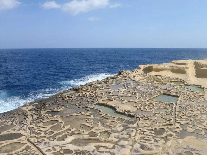 Salt Pans, Gozo, Malta