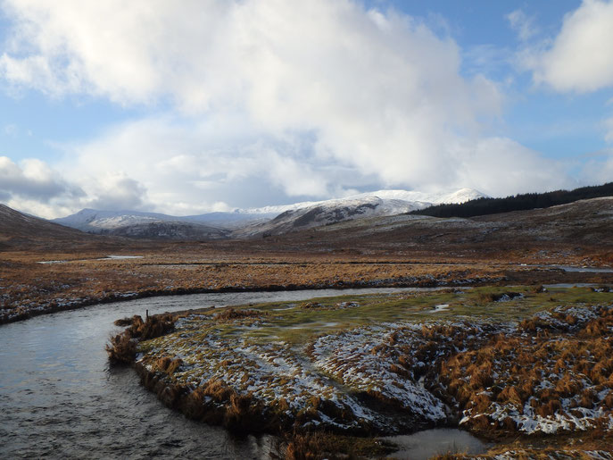 Inveroran to Victoria Bridge, West Highland Way in Winter