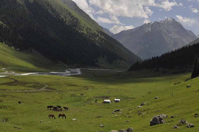 Kyrgyzstan landscape, mountains