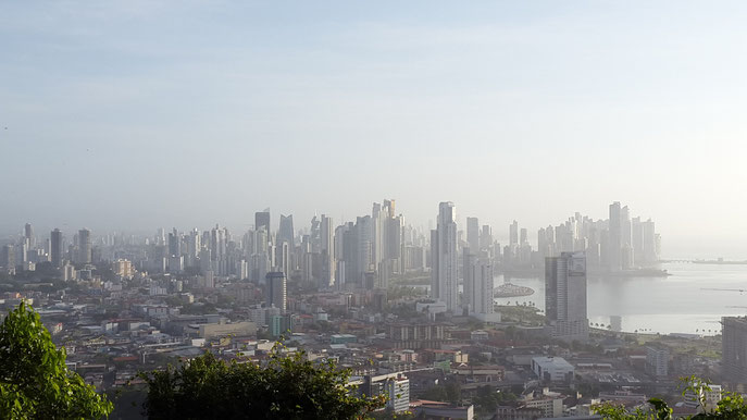 View of Panama City from Ancon Hill