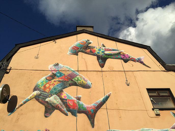 street art, Louis Masai, Hammerhead Shark