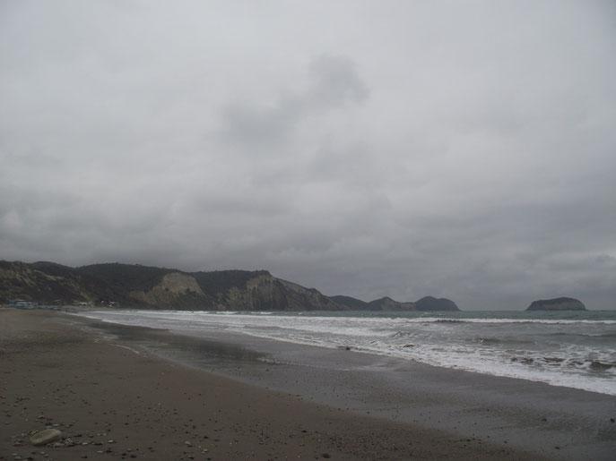 Gloomy weather at Puerto Cayo