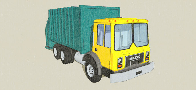 Mack Waste Truck N-Scale