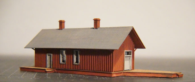 Silverton Railroad Red Mountain Depot N-Scale (laser cut wood)