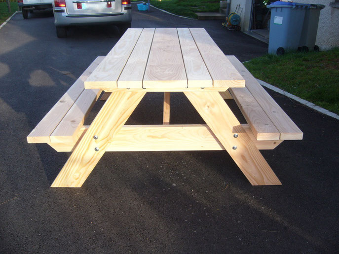 Table picnic table de jardin pas cher for Table 6 km turquie