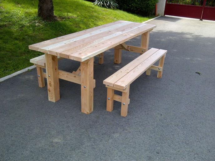 table campagnarde - table de jardin pas cher