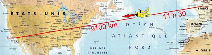 Traversée de l'Atlantique et des USA en A380
