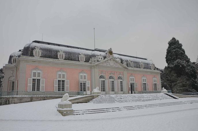 Schloss Benrath im Schnee