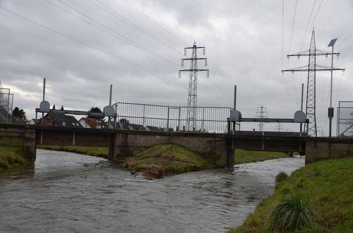 Teilung der Düssel in Nördliche Düssel und die Südliche Düssel
