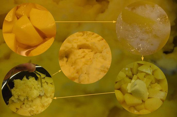 selbstgemachter Kartoffelpürree - garantiert frisch und ohne Geschmacksverstärker