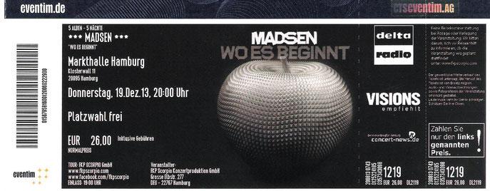 Nr.119 - 19.12.2013 - Madsen - Markthalle, Hamburg
