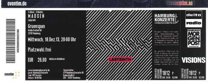 Nr.118 - 18.12.2013 - Madsen - Gruenspan, Hamburg