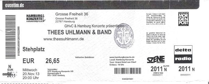 Nr.112 - 20.11.2013 - Thees Uhlmann - Große Freiheit 36, Hamburg