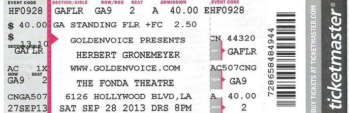 Nr. 104 - 28.09.2013 - Herbert Grönemeyer - Fonda Theatre, Los Angeles