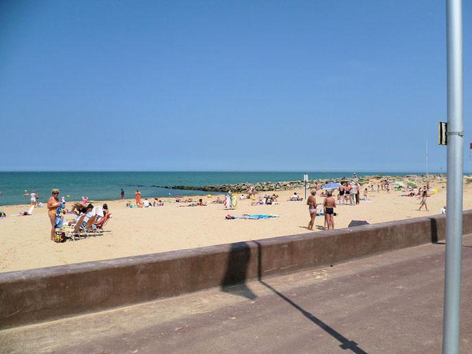 La plage de Courseulles