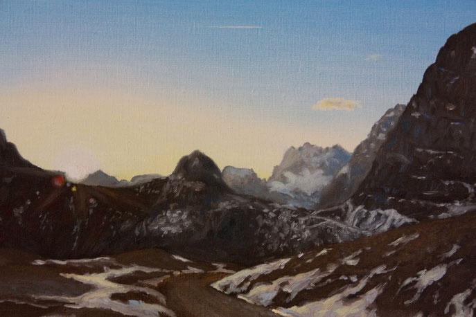 im Herzen des Karwendels, Öl auf Leinwand, Maurice Küsel