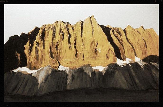 die mächtigen Laliderer-Wände; Öl auf Leinwand; 60 x 40cm; Maurice Küsel