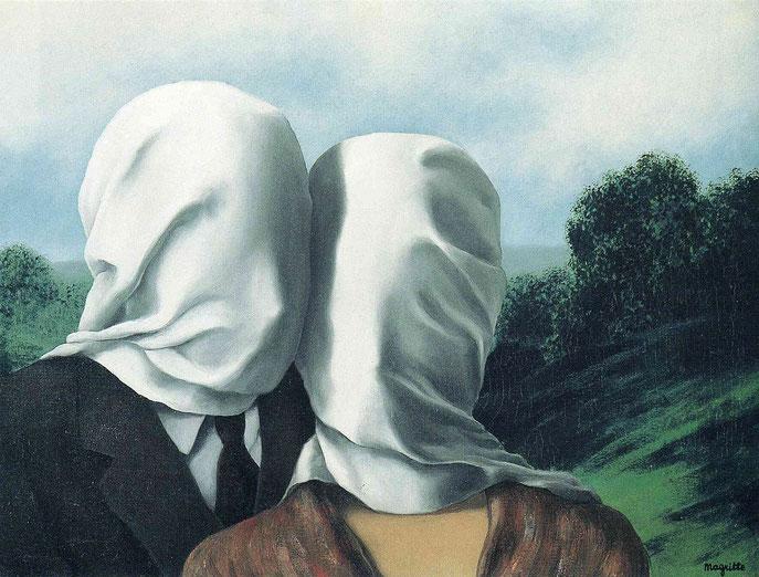 "R. Magritte, ""Gli amanti"""