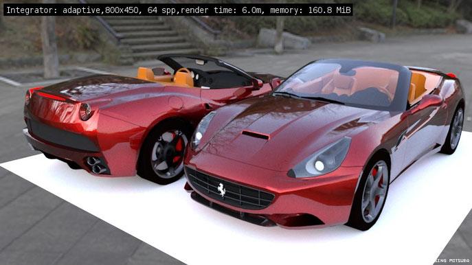 Ferrari By Mitsuba Render