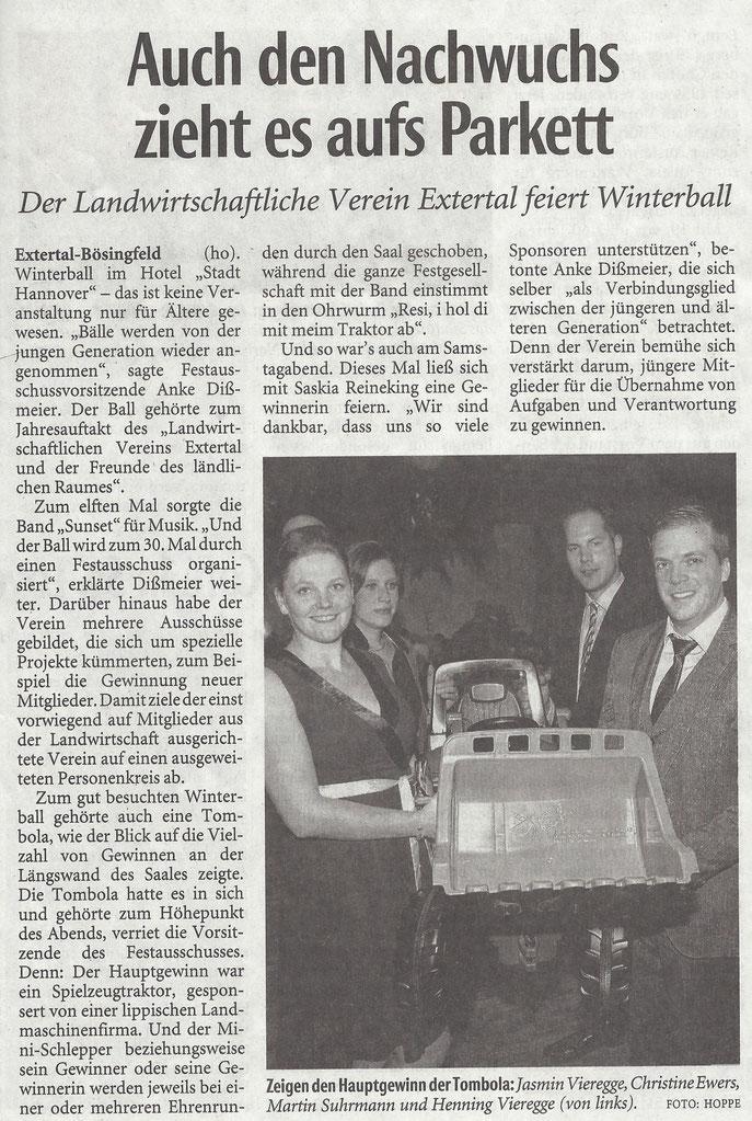 Quelle: Lippische Landeszeitung / 03.02.2015