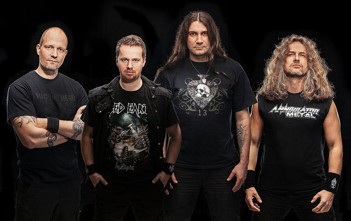 CURSE THE CULT OF CHAOS Line Up  :   Andreas - Robert- Marco - Sammy