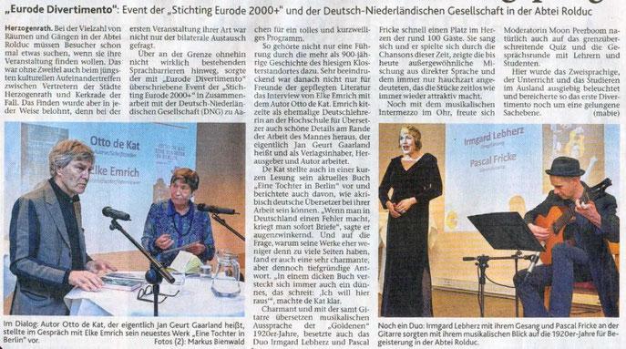 Aachener Zeitung, 20.02.2014