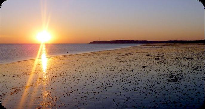 Coucher de soleil sur le Cap de Carteret