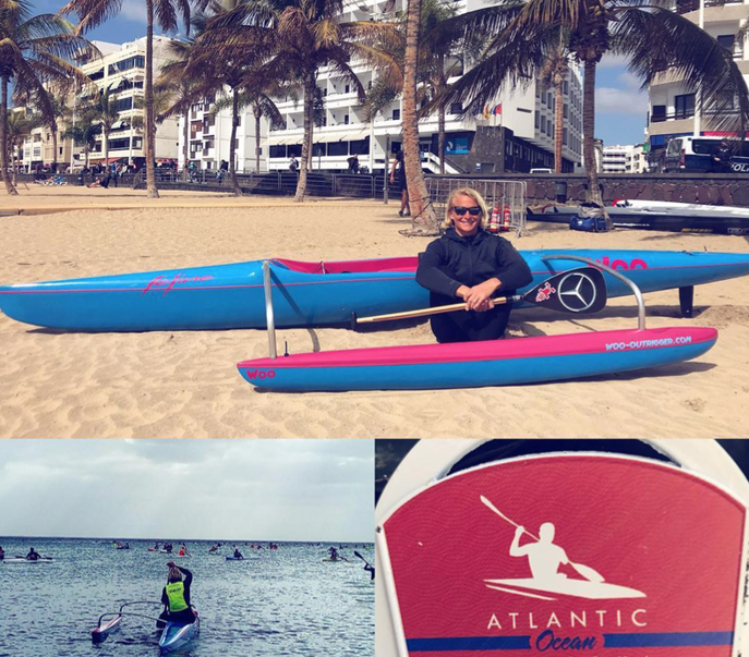 Thank you WOO  Outrigger for this amazing new toy!! This weekend was my first race on an OC1 (and 4th time paddling on one 😆). It was a great experience, strong wind with some looooong glides...