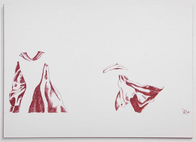 Zwei aus 300, 2008, Tinte auf Papier, A4