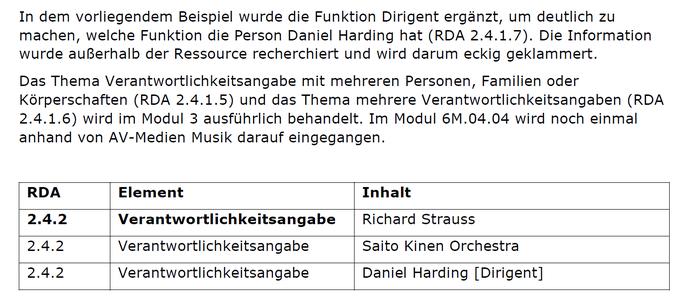 """Ausschnitt aus der Schulungsunterlage für die Musik zum Thema """"Verantwortlichkeitsangabe"""""""