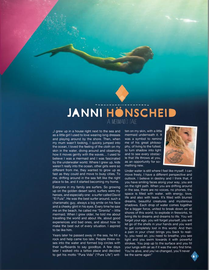 Janni as a mermaid (Chiemsee Lookbook 2015)