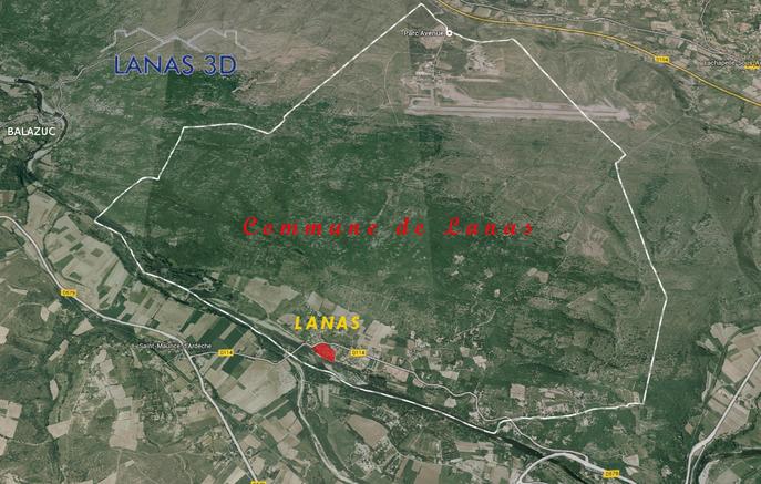 La commune de Lanas