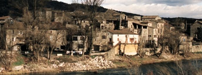 Vue du pont, La molle en 1996.