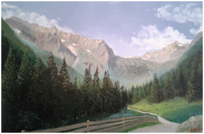 Gschnitztal in Tirol, Öl auf Leinwand, 60 x 40cm, Maurice Küsel