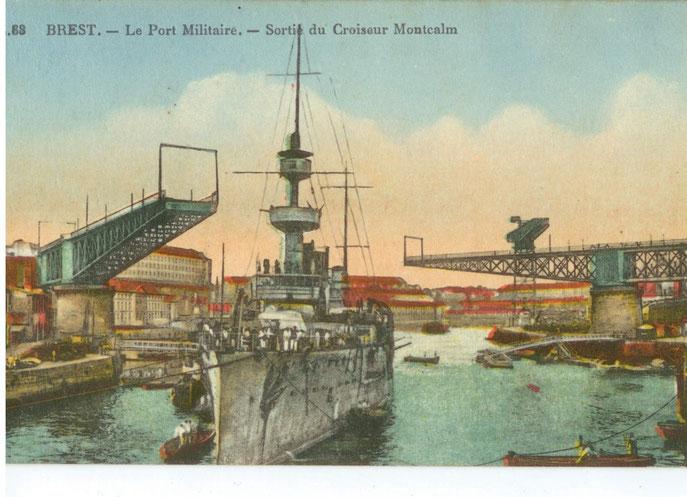 Sortie du Croiseur  Montcalm