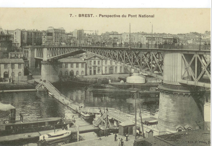 Carte Edition E.PERON Brest