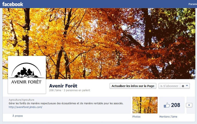 Lien vers le profil Facebook du groupement forestier Avenir Forêt