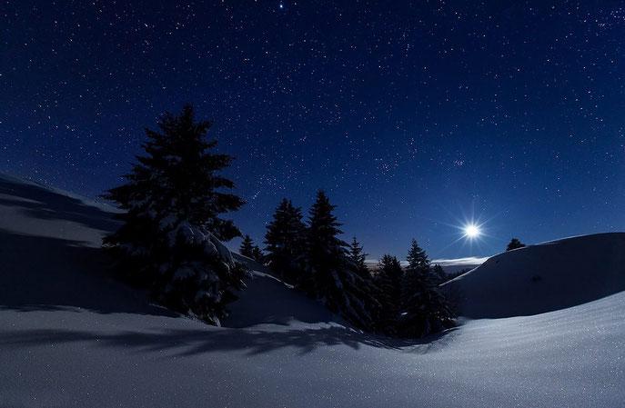 fotografia notturna in inverno